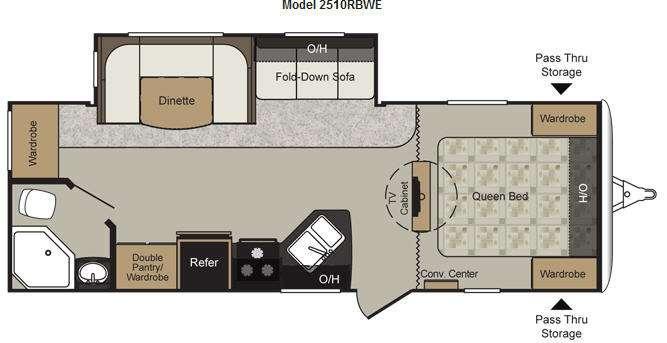 Floorplan - 2012 Keystone RV Passport 2510RBWE