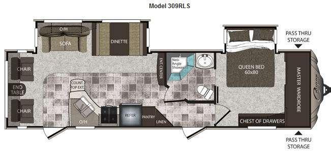 Floorplan - 2012 Keystone RV Cougar High Country 309RLS