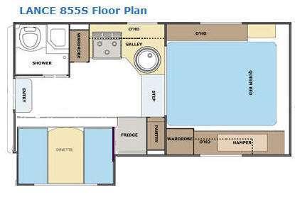Floorplan - 2012 Lance 855S