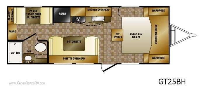 Floorplan - 2012 CrossRoads RV Slingshot GT25BH