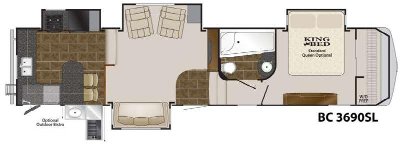 Floorplan - 2012 Heartland Big Country 3690 SL