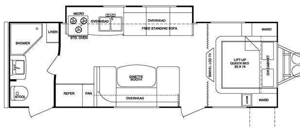 Floorplan - 2012 Cruiser Fun Finder X X-244 RBS