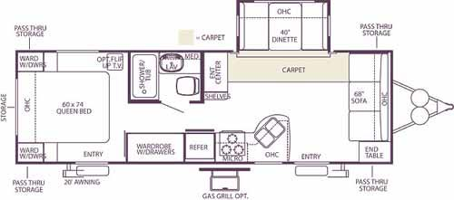 Floorplan - 2006 Forest River RV Wildwood LE 26FLS LE