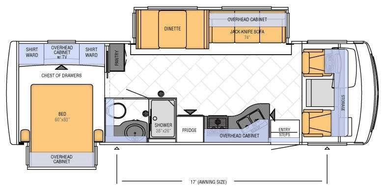 Floorplan - 2012 Newmar Bay Star 2901