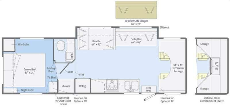 Floorplan - 2012 Winnebago Access 31CP