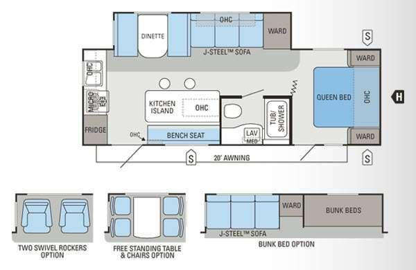 Floorplan - 2012 Jayco Jay Flight 26RKS