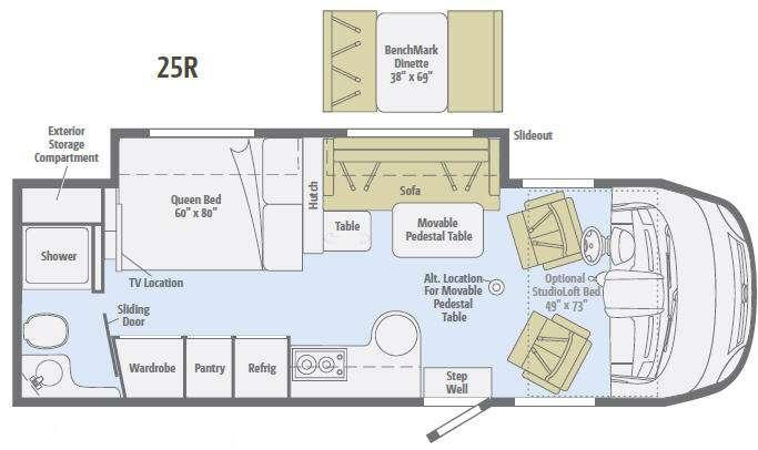 Floorplan - 2012 Winnebago Via 25R