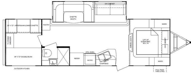 Floorplan - 2012 Cruiser Shadow S-280QBS