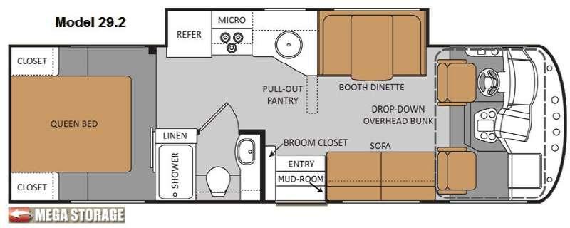 Floorplan - 2012 Thor Motor Coach ACE 29 2