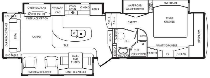 Floorplan - 2012 DRV Luxury Suites Mobile Suites 36 TKSB3