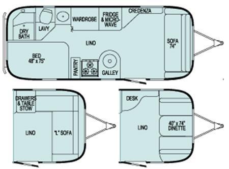 Floorplan - 2006 Airstream RV Safari 23