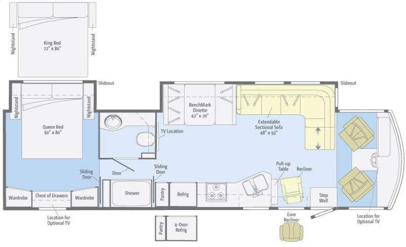 Floorplan - 2012 Winnebago Sightseer 36V
