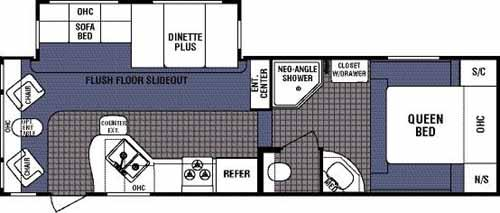 Floorplan - 2006 Dutchmen RV Denali 28RL-M5