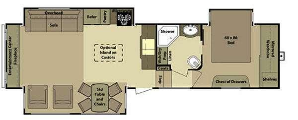 Floorplan - 2012 Open Range RV Roamer RF357RES
