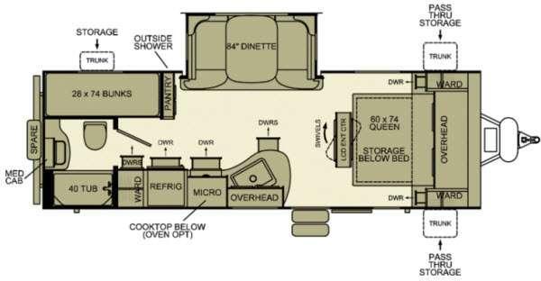 Floorplan - 2012 EverGreen RV i-Go G239BH