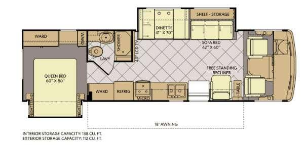 Floorplan - 2012 Fleetwood RV Storm 32V