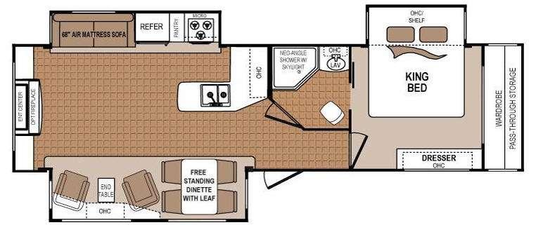 Floorplan - 2012 Dutchmen RV Denali 287RE