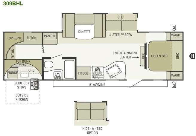 Floorplan - 2012 Starcraft  Autumn Ridge 309BHL