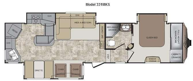 Floorplan - 2012 Keystone RV Cougar 331MKS