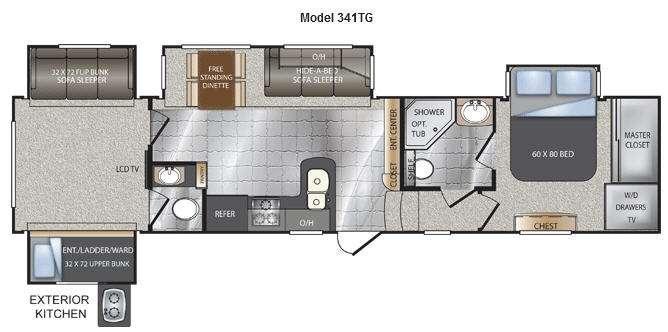 Floorplan - 2012 Keystone RV Avalanche 341TG