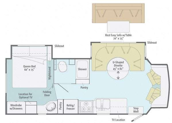 Floorplan - 2012 Itasca Cambria 28T