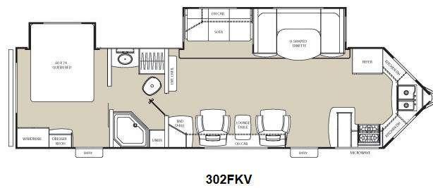 Floorplan - 2012 Coachmen RV Freedom Express 302FKV