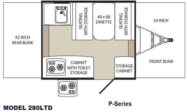 Floorplan - 2012 Palomino Tent Campers 280 LTD P Series