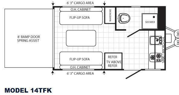 Floorplan - 2012 Palomino Canyon Cat 14TFK