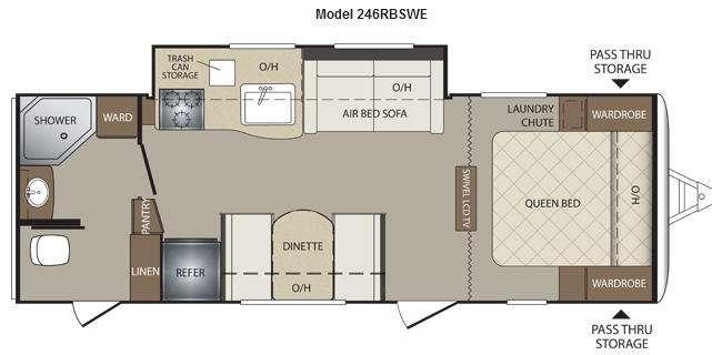 Floorplan - 2012 Keystone RV Bullet 246RBSWE