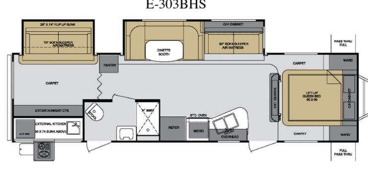 Floorplan - 2013 Cruiser Enterra E-303BHS
