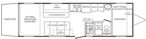 Floorplan - 2006 Keystone RV NRG 260FS