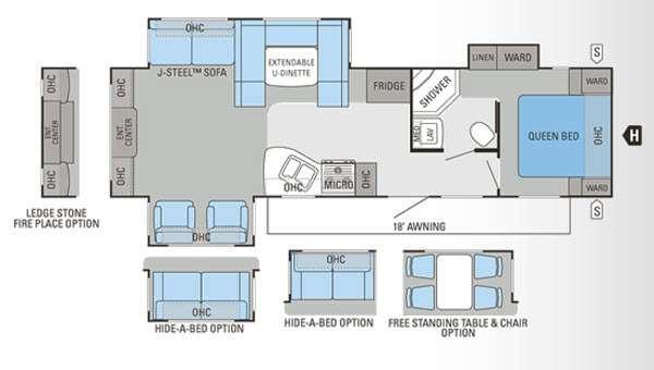 Floorplan - 2012 Jayco Eagle Super Lite 308RETS