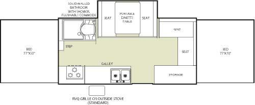 Floorplan - 2006 Fleetwood RV Highlander Niagara