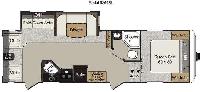 Floorplan - 2012 Keystone RV Passport 5260RL