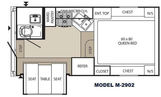 Floorplan - 2012 Palomino Maverick M-2902 Max Series