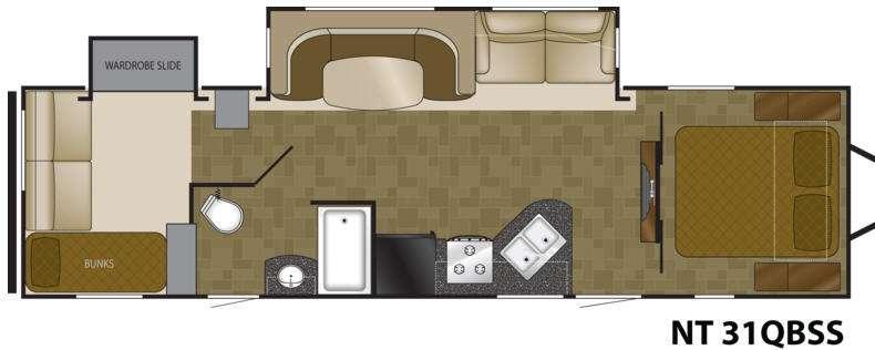Floorplan - 2012 Heartland North Trail 31QBSS King