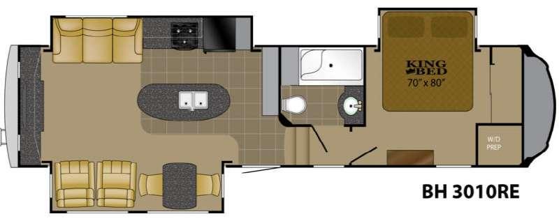 Floorplan - 2013 Heartland Bighorn 3010RE
