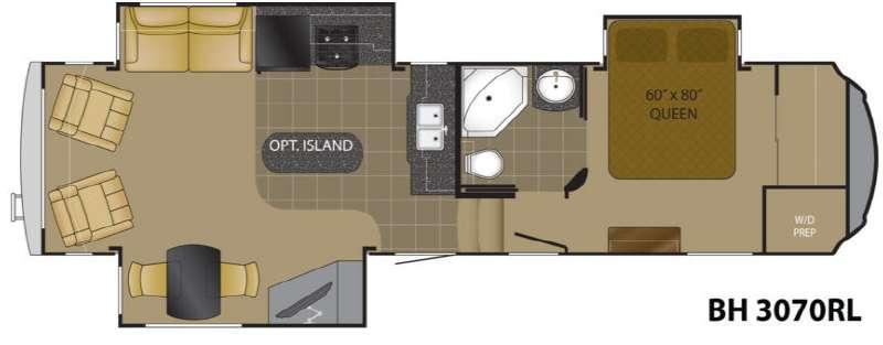 Floorplan - 2013 Heartland Bighorn 3070RL