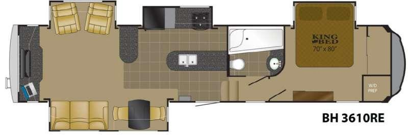 Floorplan - 2013 Heartland Bighorn 3610RE