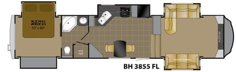 Floorplan - 2013 Heartland Bighorn 3855FL