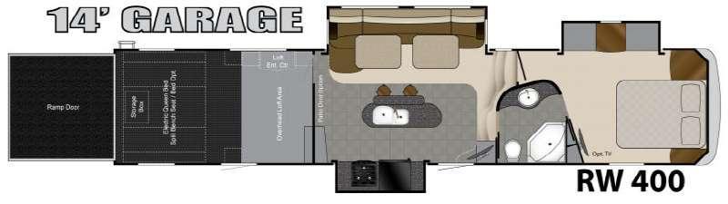 Floorplan - 2013 Heartland Road Warrior 400