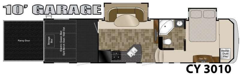 Floorplan - 2013 Heartland Cyclone 3010