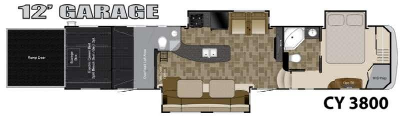 Floorplan - 2013 Heartland Cyclone 3800