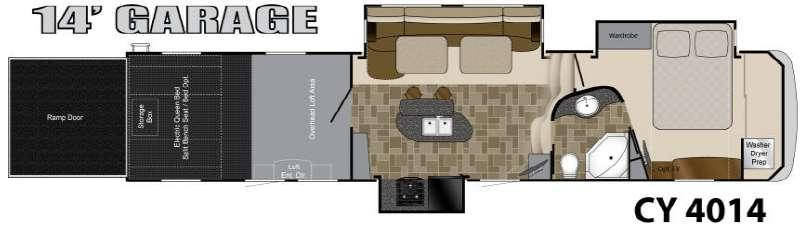 Floorplan - 2013 Heartland Cyclone 4014