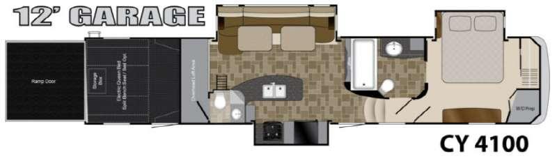 Floorplan - 2013 Heartland Cyclone 4100 King