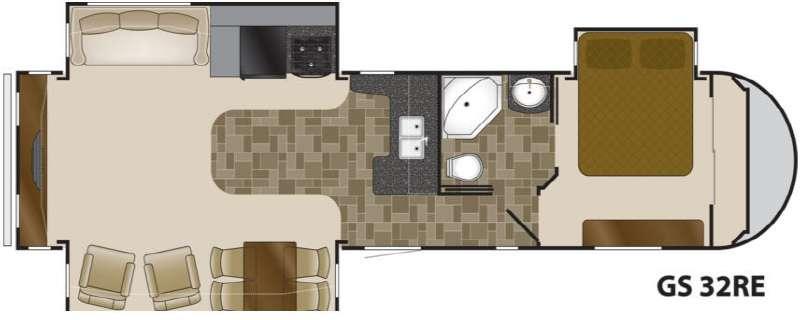 Floorplan - 2013 Heartland Greystone 32RE