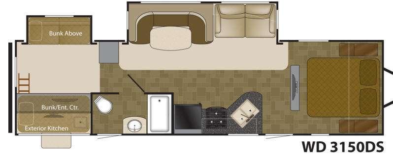 Floorplan - 2013 Heartland Wilderness 3150DS