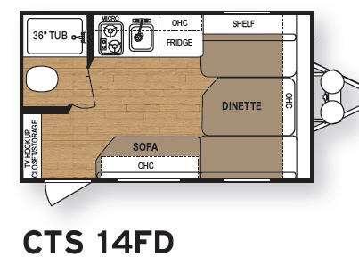 Floorplan - 2012 Dutchmen RV Coleman CTS 14FD