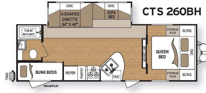 Floorplan - 2012 Dutchmen RV Coleman CTS 260BH