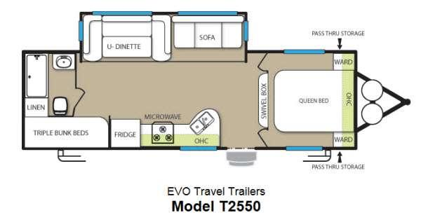 Floorplan - 2013 Forest River RV Stealth EVO 2550